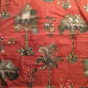 Vintage Kravet Bruno Red Palms Fabric